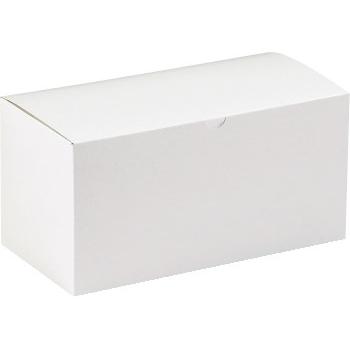 "W.B. Mason Co. Gift boxes, 12"" x 6"" x 6"", White, 50/CS"