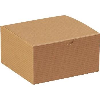 "Gift boxes, 5"" x 5"" x 3"", Kraft, 100/CS"