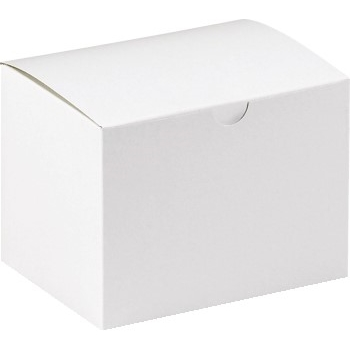 "W.B. Mason Co. Gift boxes, 6"" x 4 1/2"" x 4 1/2"", White, 100/CS"