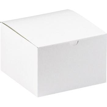 "W.B. Mason Co. Gift boxes, 6"" x 6"" x 4"", White, 100/CS"