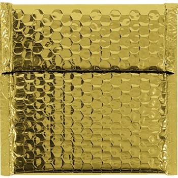 "W.B. Mason Co. Glamour Bubble Mailers, 7"" x 6 3/4"", Gold, 72/CS"