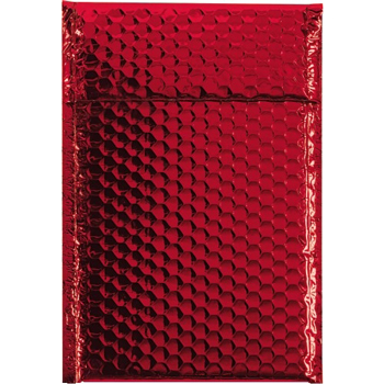 """Glamour Bubble Mailers, 7 1/2"""" x 11"""", Red, 72/CS"""