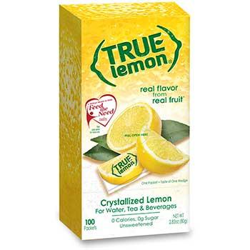True Citrus® Sweetener Packets, Lemon, 0.8 G, 100/BX