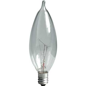 Incandescent Bulb, CA10, 60 W, 650 lm, Clear