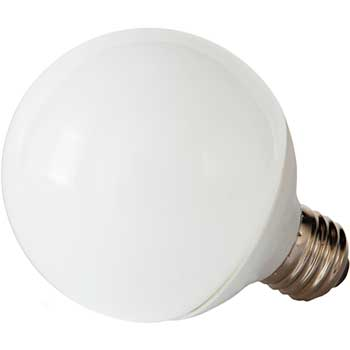 GE LED Bulb, G25, 5 W, 350 lm, Soft White