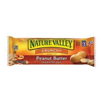 Nature Valley® Crunchy Granola Bar, Peanut Butter, 1.6 oz., 28/BX, 6 BX/CS