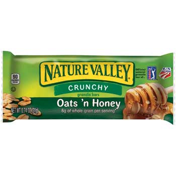 Crunchy Oats & Honey Granola Bars, 0.74 oz., 144/CS