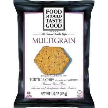 Multigrain Tortilla Chips, 1.5 oz., 6/BX