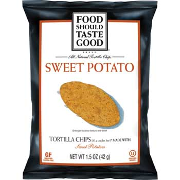 Food Should Taste Good® Sweet Potato Tortilla Chips, 1.5 oz., 24/CS