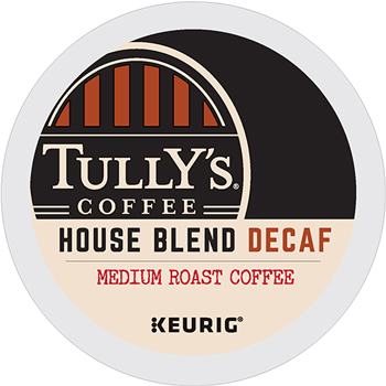 Tully's Coffee® House Blend Decaf Coffee K-Cup® Pods, 24/BX