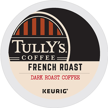 Tully's Coffee® French Roast Coffee K-Cup® Pods, 24/BX, 4 BX/CT