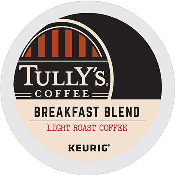 Tully's Coffee® Breakfast Blend Coffee K-Cup® Pods, 24/BX