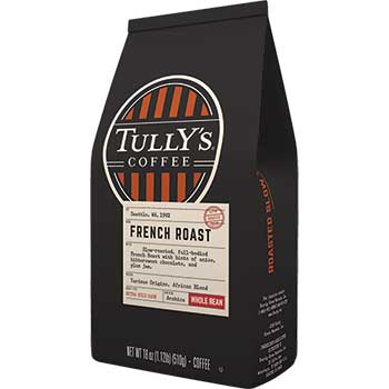 Tully's Coffee® Whole Bean Coffee, French Roast, 18 oz.