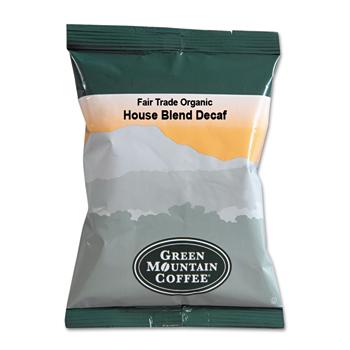 Green Mountain Coffee® Fair Trade Organic House Blend Decaf Coffee Fractional Packs, 2.5 oz., 50/CT