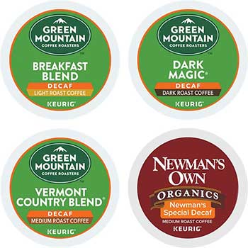 Decaf Variety Coffee K-Cup® Pods, 22/BX, 4 BX/CT