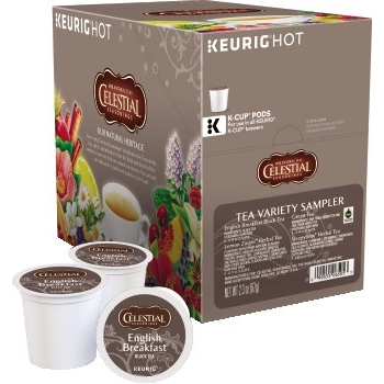 Tea K-Cups Sampler, Assorted Flavors, 22/BX