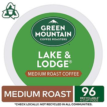 Green Mountain Coffee® Lake & Lodge Coffee K-Cup Pods, 96/CT