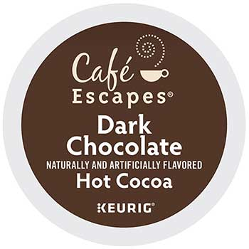Café Escapes® Dark Chocolate Hot Cocoa K-Cup® Pods, 24/BX
