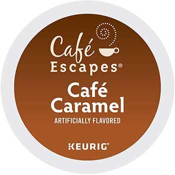 Café Escapes® Café Caramel K-Cup® Pods, 24/BX