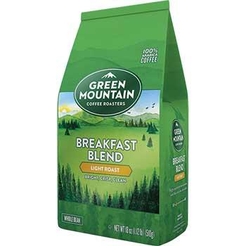 Whole Bean Coffee, Breakfast Blend, 18 oz.