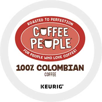 Coffee People® 100% Colombian Coffee K-Cup® Pods, 24/BX