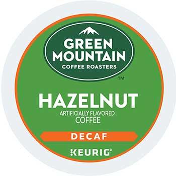 Green Mountain Coffee® Hazelnut Decaf Coffee K-Cups, 24/BX, 4 BX/CT