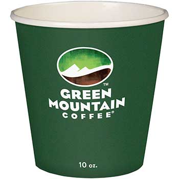 Green Mountain Coffee® Eco-Friendly Paper Hot Cups, 10oz, Green Mountain Design, Multi, 1000/Carton