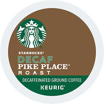 Starbucks® Pike Place® Roast Decaf Coffee K-Cup® Pods, 24/BX, 4 BX/CT