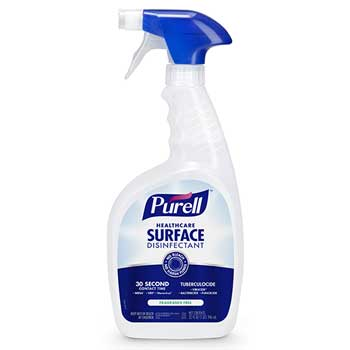 Healthcare Surface Disinfectant, Fragrance Free, 32 oz Spray Bottle, 12/CT