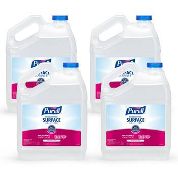 PURELL® Foodservice Surface Sanitizer Spray, Fragrance Free, 1 Gallon Pour Bottle Refill 4/CT