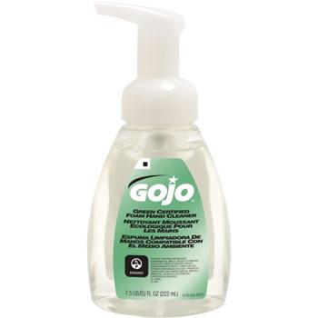 GOJO Green Certified Foam Soap, Fragrance-Free, Clear, 7.5 oz. Pump Bottle, 6/CT