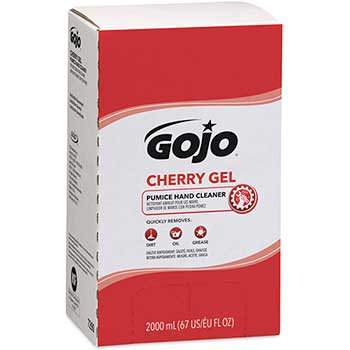 GOJO® Cherry Gel Pumice Hand Cleaner, 2000 mL Refill for GOJO® PRO™ TDX™ Dispenser, 4/CT