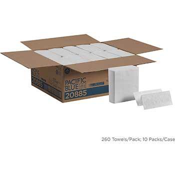 Pacific Blue Ultra™  Z-Fold Paper Towel, White, 260/PK, 10 PK/CT