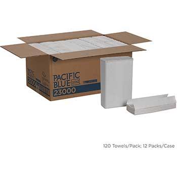 Pacific Blue Select™ Premium C-Fold Paper Towels by GP Pro, 2-Ply, White, 120/PK, 12 PK/CT