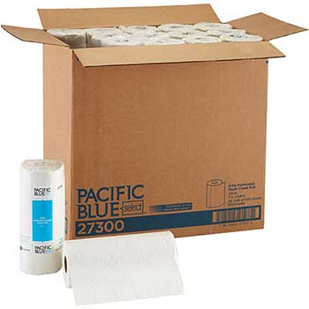 Pacific Blue Select™ Perforated Roll Paper Towel by GP Pro, 2-Ply, White, 100 Sheets, 30 RL/CT