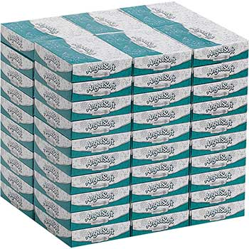 Angel Soft ps® Facial Tissue by GP Pro, Personal Size Flat Box, 2-Ply, 50 Sheets, 60/CT