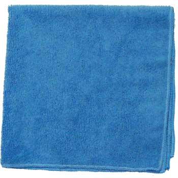 "MIMA™ Lightweight Microfiber Cloths, 16"" x 16"", Blue, 12/BG"