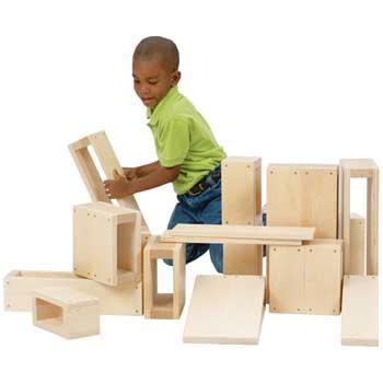 Guidecraft Jr. Hollow Blocks, 16/ST