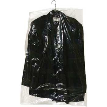 """Garment Bags, 21"""" x 4"""" x 30"""", 0.6 Mil, Clear, 650/RL"""