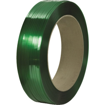 """W.B. Mason Co. Signode Comparable Polyester Strapping, Smooth, 16"""" x 6"""" Core, 1/2"""" x 9000', Green"""