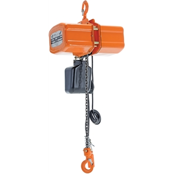 Economy Chain Hoist with Chain Container, 1000 lb. Capacity, 1 Phase Power