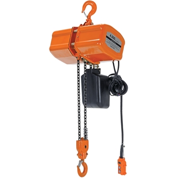 Economy Chain Hoist with Chain Container, 4000 lb. Capacity, 1 Phase Power