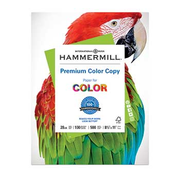 Premium Color Copy Paper, 100 Brightness, 28lb, 8 1/2 x 11, Photo White, 4000/CT