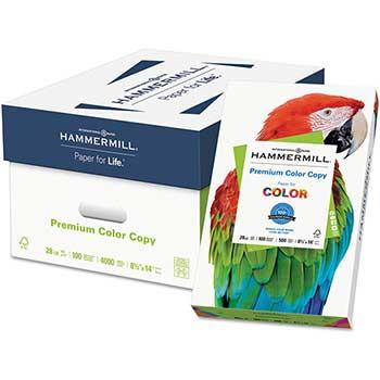 """Hammermill Premium Color Copy 28lb Paper, 8.5"""" x 14"""", 100 Bright, 8 Reams, 4,000 Sheets"""