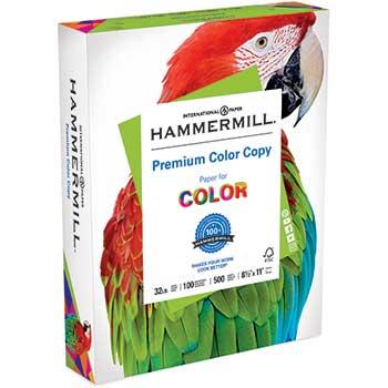 Hammermill Premium Color Copy, 100 Brightness, 32lb, 8-1/2 x 11, Photo White, 500/Ream