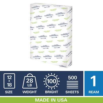 Premium Color Copy, 100 Brightness, 28lb, 12 x 18, Photo White, 500 Sheets/Ream