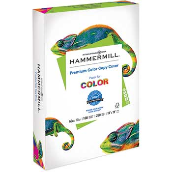 Premium Color Copy Cover, 60 lbs., 17 x 11, Photo White, 250 Sheets/PK