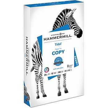 "Hammermill Tidal MP Copy Paper, 92 Brightness, 20 lb., 8 ½"" x 14"", White, 500 Sheets/Ream"