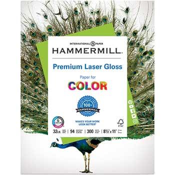 Premium Laser Gloss, 94 Brightness, 32lb, 8-1/2 x 11, White, 300 Sheets/Pack