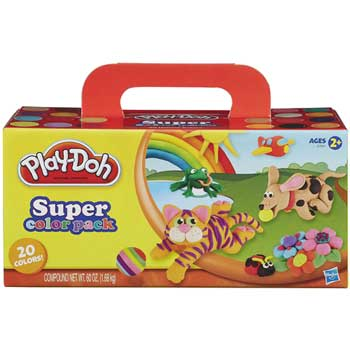 Hasbro® Play-Doh® Super Color Pack, Assorted, 3 oz., 20/PK